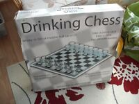All Glass Drinking Chess Board Game (new an onopened)