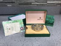 Rolex Date just gold automatic sweeping movement brand new