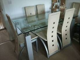 Dining Table and 6 chairs NOW SOLD