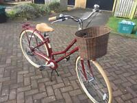 PENDLETON SOMERBY Limited edition ladies bike with wicker basket and bike stand