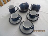 Denby Imperial Blue Cups & Saucers