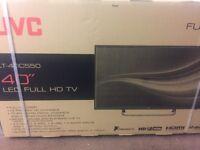 "Brand new JVC 40"" LED Full HD TV still sealed in the box"