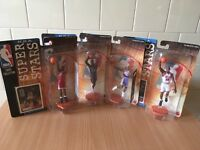 NBA Super Stars Mattel Figures Michael Jordan, Dennis Rodman & Scottie Pippen