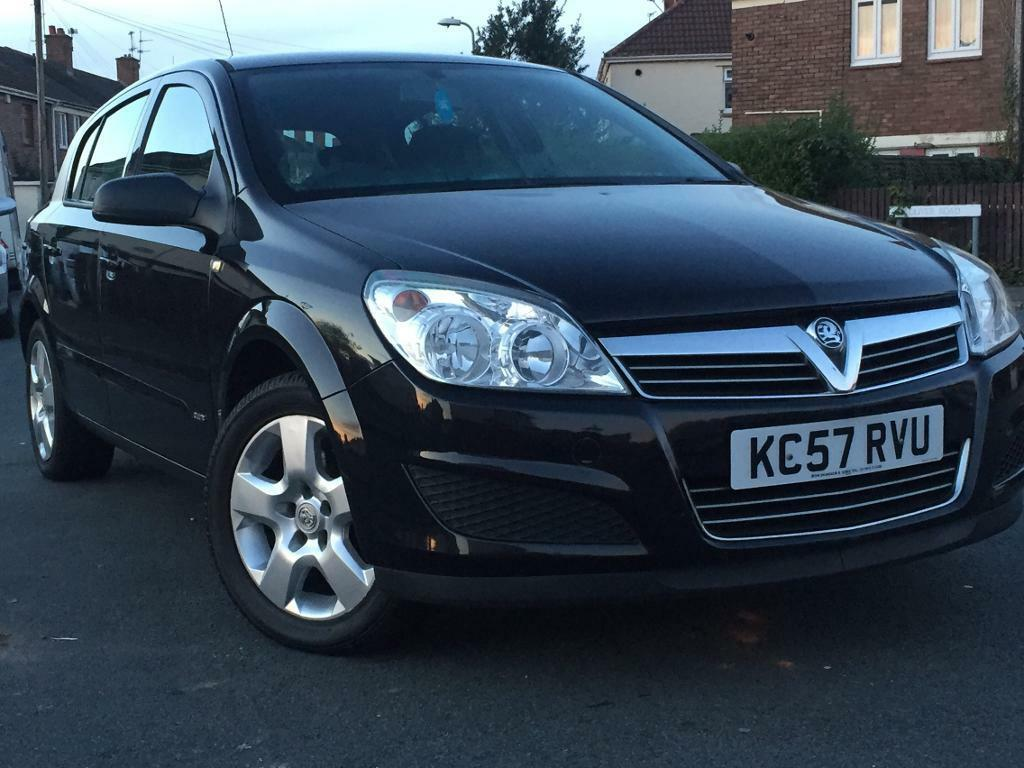 2007(57) VAUXHALL ASTRA CLUB TWINPORT 1.4 PETROL*5 DOORS BLACK*LONG MOT31/10/2017