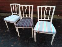 3 + 1 chairs vintage upholstered painted dining kitchen room chairs