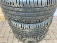Pirelli tyres (245 50 R19 105 W) for BMW.