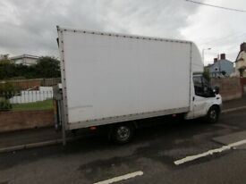 Man Vs large Luton van,House moving,pick up delivery&collection cheap&friendly hire service