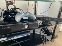 Xbox 360 with kinect and selection of games