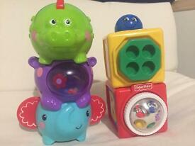 Fisher price and ELC stacking toys