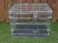 DOG CAGE LARGE WITH TRAY £28