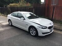 2012 62 BMW 520D EFFICIENTDYNAMICS F10 WHITE DAMAGED SALVAGE REPAIRABLE CAT D