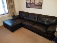Black leather Chaise Lounge Sofa. Very good condition and want to sell due to moving