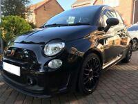 All black Fiat 500 Abarth