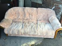FREE BIEGE FABRIC 3 SEATER SOFA,CAN DELIVER