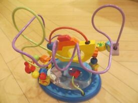 Seaside baby/toddler wooden bead maze toy