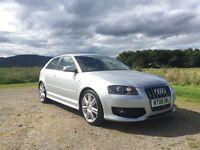 Audi s3 2.0l Tfsi 265 bhp 2008 low miles silver 3 door