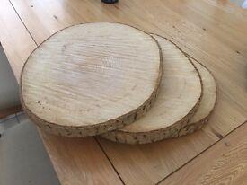 Wood Slices x 6