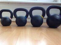 4 heavy duty cast iron Kettlebellfever kettlebells