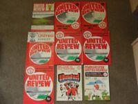 14 Manchester United Programmes 1968-1991 League games v Notts Forest, Derby,Wolves etc