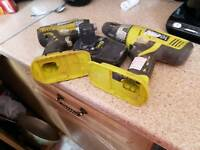 Rybo 18 volt drill and impact drive