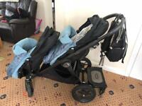 Baby jogger double/single Pram with extras