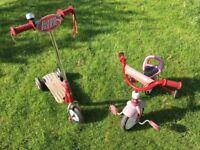 Radio Flyer Grown 'N' Go Bike + scooter (job lot)