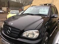 Mercedes ML 270 CDI Auto Black. Sat Nav, DVD, Phone, Dog Guard, Towbar