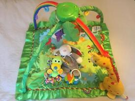 Play gym and baby toys.