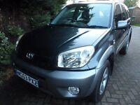 RAV4 Petrol 2 Litre 5 speed, Grey Metallic, leather, Climate, Sunroof, Good tyres, New Exhaust, MOT