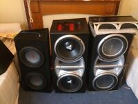 SUB WOOFERS 20 AVAILABLE JL AUDIO, ROCKFORD FOSGATE, KENWOOD, JBL AND MORE