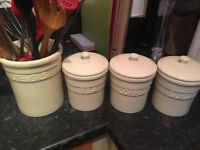 House of Fraser Cream Kitchen Jars