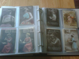 Postcards of glamour girls (380 cards in total)