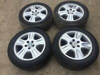 "Set of 4 ford Mondeo / focus / transit connect 16"" alloy wheels - good tyres"