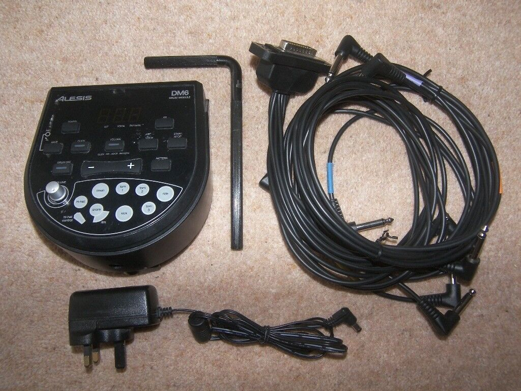 Alesis DM6 - High Definition Drum Module with 108 Dynamic Sounds + Cables and Power Supply.