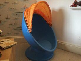 retro design kids swivel Ikea egg chair