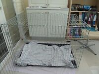 """extra large dog crate/cage, 46.5"""" long - as new"""