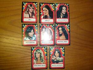 8 1977 Charlie's Angels Collector Stickers