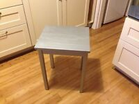 Small Table wooden, painted metallic silver, perfect condition. Macclesfield area.