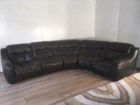 Beautiful Modular Italyan real leather corner sofa with free delivery within London