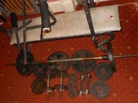 Standard barbells dumbells Dp weights weightbench