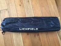 Lichfield Folding Portable Camping Table Black Finish Used but Very Good Condition