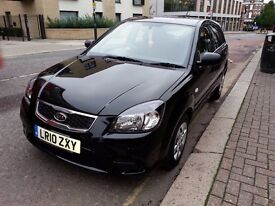 KIA RIO 2010, 1.4 5DR, PETROL, Black, Full service history, HPI clear, 2 owners