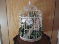 Victorian Style Wire Framed Jardinière bird cage
