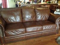 Oversized Leather Couch/love seat for sale