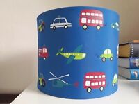 GORGEOUS Boy's Light Shade - Blue Shade - Transport - Car - Boat - Train - Bus