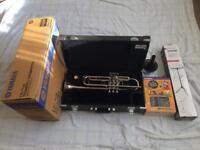 Yamaha Trumpet YTR-4335g Silver, Great condition with box, case and Silent Brass mute