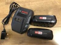 Bosch AL 1815 Battery Charger and 2 x Bosch 18v Batteries