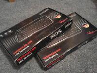 2 x UK Mini Wired Keyboard - USB