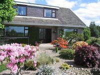 For Sale Secluded 4 Bedroomed Detached Dwelling with Conservatory, Study and detached double Gargage