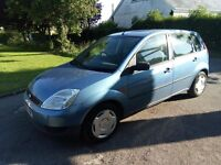 02 Ford Fiesta 1.4 tdci. MOT April 2018. PX to clear just £200, starts and drives, spares repairs.